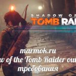 Shadow of the Tomb Raider ошибки и требования