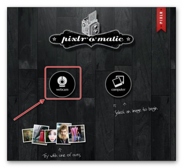 Pixlr выбор вебки онлайн