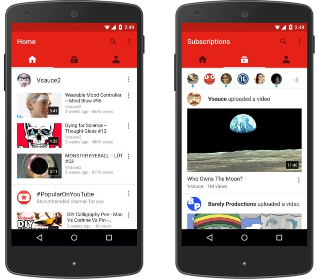 Ошибка воспроизведения в приложении YouTube для Android