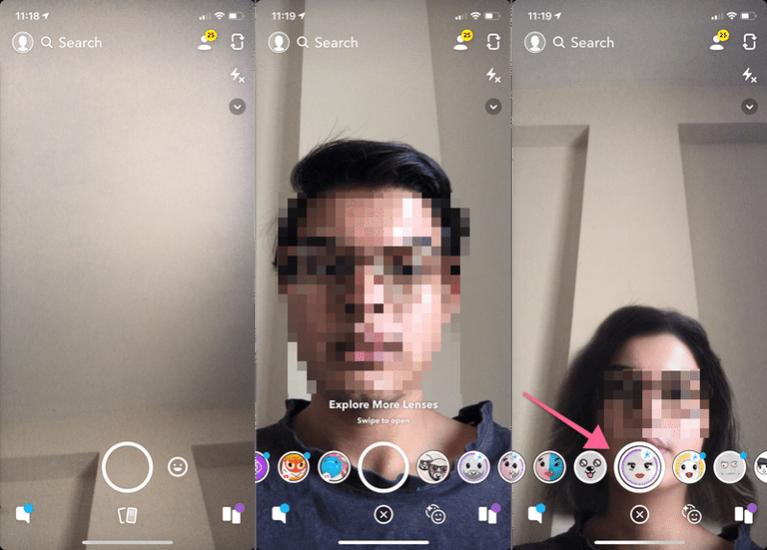 Как использовать фильтр смены поля Snapchat