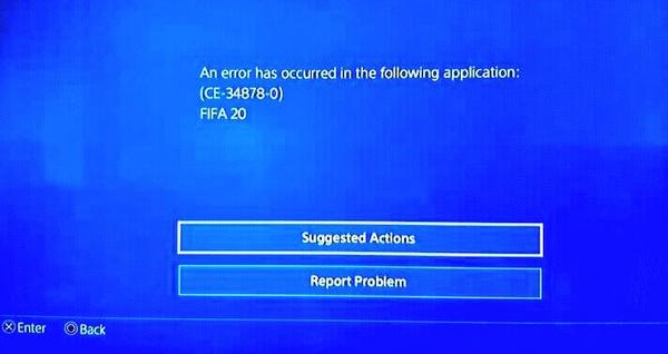 Ошибка CE-34878-0 в FIFA 20