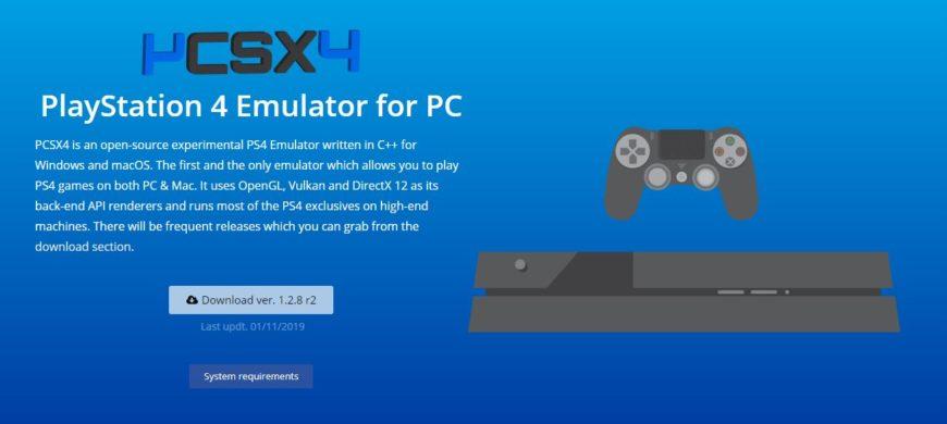 Эмулятор PCSX4
