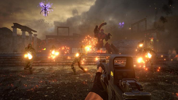 Скриншот из игры Serious Sam 4