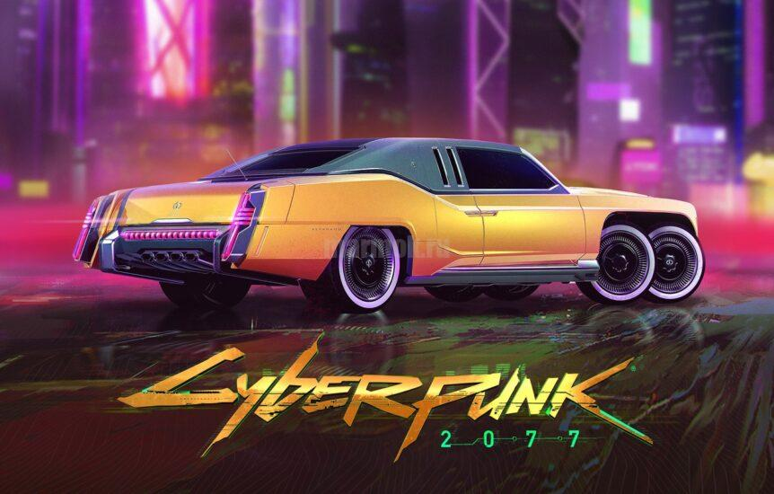 Обои киберпанк 2077 с машиной