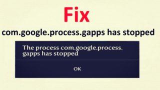 Исправляем ошибку com.google.process.gapps